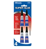 BAZIC 3g / 0.10 Oz. Super Glue (4/Pack)