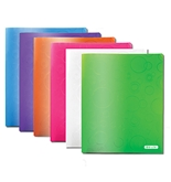 BAZIC Bubble Embossed Multi Color 2-Pockets Poly Portfolio