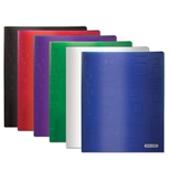 BAZIC Cubic Embossed Multi Color 2-Pockets Poly Portfolio