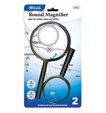 BAZIC 3.5 & 2.5 Round Handheld Magnifier Sets (2/Pack)
