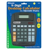 BAZIC 8-Digit Large Desktop Calculator with Adjustable Display