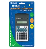 BAZIC 10-Digit Scientific Calculator with Flip Cover