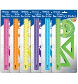 BAZIC 5-Piece Geometry Ruler Combination Sets