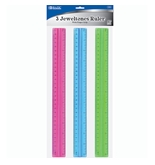 BAZIC 12 (30cm) Ruler with Handle Grip (3/Pack)