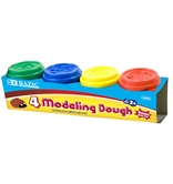 BAZIC 2 Oz. Multi Color Modeling Dough (4/Pack)