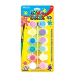 BAZIC 12 Color 6ml Kids Paint with Brush