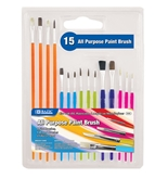BAZIC Asst. Size Paint Brush Set (15/Pack)