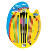 BAZIC Asst. Size Kids Watercolor Paint Brush Set (9/Pack)