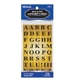 BAZIC Gold Foil Alphabet Label (378/Pack)
