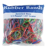 Assorted Dimensions 227g/ 0.5 lbs. Rubber Bands