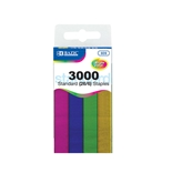 BAZIC 3000 Ct. Standard (26/6) Metallic Color Staples