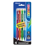 BAZIC Sparkly 0.7mm Mechanical Pencil with Glitter Grip (4/Pk)