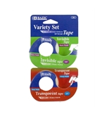BAZIC 3/4 X 600 Invisible & Transparent Tape Variety Set (2/Pack)