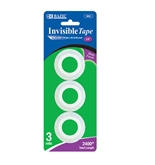 BAZIC 3/4 X 800 Invisible Tape Refill (3/Pack)