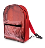 15 Red Clear Front Backpack
