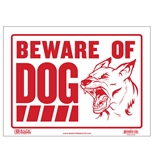 BAZIC 12 X 16 Beware of Dog Sign