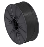"5/32"" x 7000' Black Plastic Twist Tie Spool - PLTS532K"