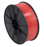 "5/32"" x 7000' Red Plastic Twist Tie Spool - PLTS532R"