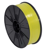 "5/32"" x 7000' Yellow Plastic Twist Tie Spool - PLTS532Y"