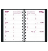 Brownline 2013 Weekly Planner, Twin-Wire, Black, 8 x 5 Inches (CB75.BLK-13)