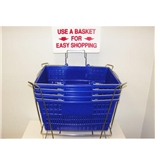 Garvey BSKT-40911 Stand and Sign Sets - Blue