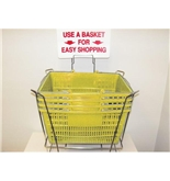 Garvey BSKT-40915 Stand and Sign Sets - Yellow