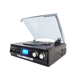 Boytone BT-17DJB MULTI RPM TURNTABLE WITH SD/AUX/USB/RCA/3.5mmCONNECTIVITY ENCODE VINYL & RADIO TO MP3 AND ENJOY MP3 OR WMA PLAYBACK ON USB OR SD.