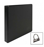 Business Source 09976 Round Ring Binder, 1 in. Capacity, 11 in.x8-1/2 in., Black, Sold by the Each