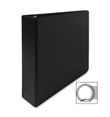 Business Source 09977 Round Ring Binder, 2 in. Capacity, 11 in.x8-1/2 in., Black