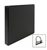 Business Source 09978 Round Ring Binder, 3 in. Capacity, 11 in.x8-1/2 in., Black