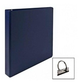Business Source Round Ring Binder, 1- Capacity, 11-X8-1/2-, Dark Blue