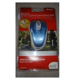 Microsoft Wireless Notebook Optical Mouse 3000, Special Edition Blue - BX3-00046