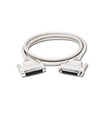 C2G / Cables to Go 02655 DB25 Male/Female Extension Cable, Beige (6 Feet / 1.82 Meters)