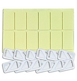 Cable/Wire Clips w/Double-Sided Adhesive Pads (12-Pack) - Great for Speaker & Et