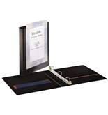 Cardinal by TOPS Products XtraLife ClearVue Non-Stick Round Ring Binder, 5/8 Inch, Black (26291)