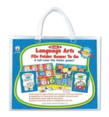 Carson-Dellosa 140022 File Folder Games-To-Go, Language Arts, Second Grade