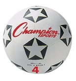 Champion Soccer Ball No. 3; Black/White; no. CHSSRB3