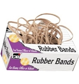 Charles Leonard Rubber Bands, Tissue-style Box, #10, Beige/Natural, 56110