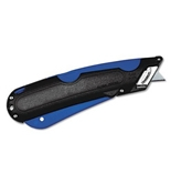 COSCO : Box Cutter Knife with Shielded Blade, Black/Blue - Sold as 2 Packs of - 1 Total of 2 Each