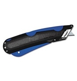 COSCO Easycut Self Retracting Cutter KNIFE, SAFETY, W/HOLSTER, BK (Pack of10)