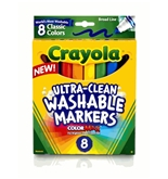 Crayola Broad Line Ultraclean Washable Classic Markers (8 Count)