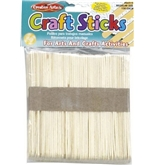 Creative Arts by Charles Leonard Craft Sticks, Regular Size, Natural Color, 4-1/2 x 3/8 Inch, 150/Bag