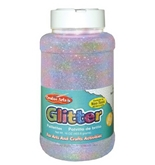 Creative Arts by Charles Leonard Glitter, 16 oz. (1 Lb.) Bottle, Iridescent (41175)