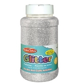 Creative Arts by Charles Leonard Glitter, 16 oz. (1 Lb.) Bottle, Silver (41145)