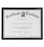 DAX Value U-Channel Document Frame with Certificates, 8.5 x 11 Inches, Black (N17000N)