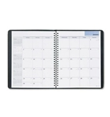 DayMinder Recycled Monthly Planner, 6 x 9 Inches, Black, 2013 (G400-00)