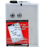 Dooley Aluminum Framed Magnetic Dry Erase Board, 5 x 7 Inches, 1 Board (507MGMTA)