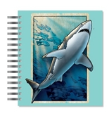 ECOeverywhere Vintage Shark Picture Photo Album, 18 Pages, Holds 72 Photos, 7.75 x 8.75 Inches, Multicolored (PA11704)