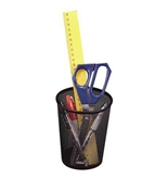 Eldon Nestable Jumbo Wire Mesh Pencil Cup, 4.375 Diameter x 5.125 Height, Black (62557)