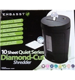 Embassy - 10 Sheet Quiet Series Diamond-Cut Shredder (GoECO)